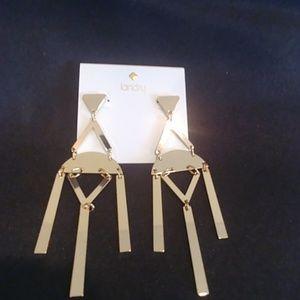 2/$10 NWT! Landry Gold Geometric Designed Earrings
